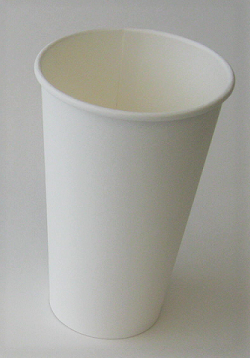 16oz White Hot Cup Single Wall Plain (Case of 1000)