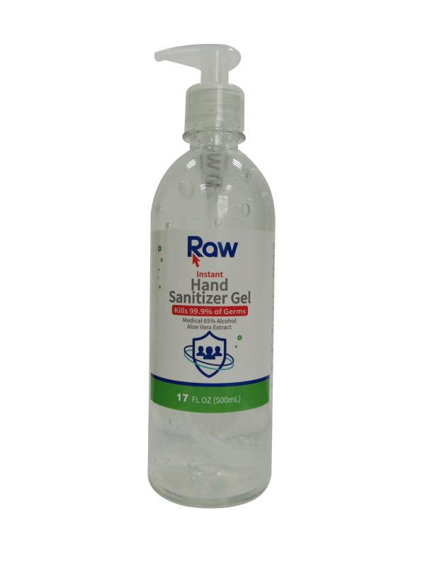 Raw brand 500 ml (17oz) gel with Pump - pack of 20 (In Stock)