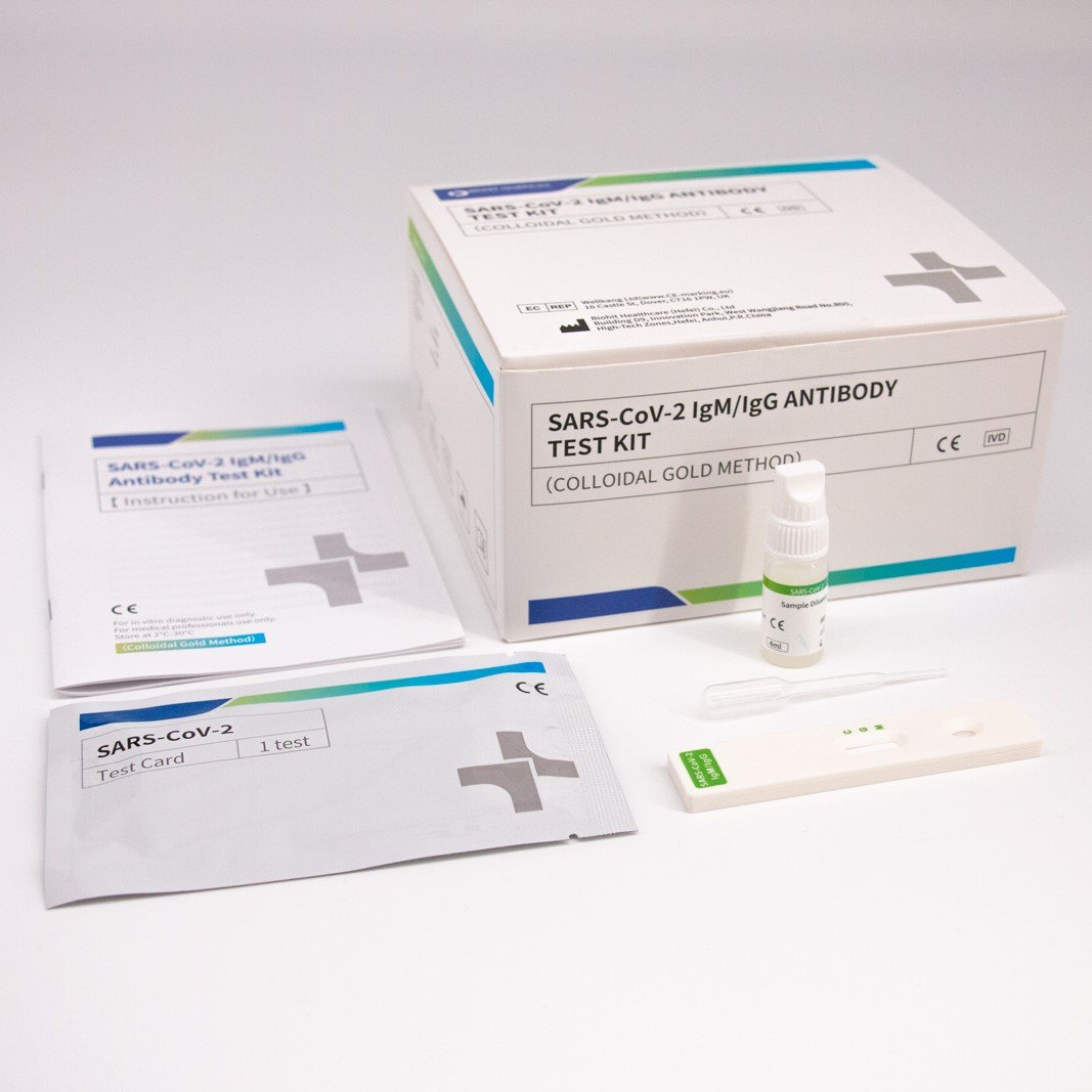 BioHit SARS-CoV-2 lgM/lgG ANTIBODY Test Kit - Pack of 25