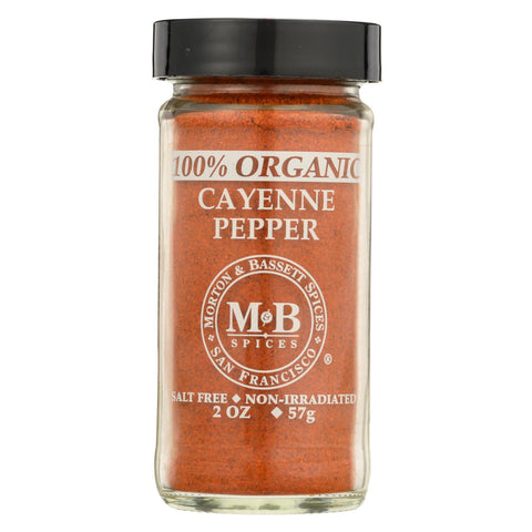 Morton and Bassett Organic Cayenne Pepper - Cayenne Pepper - Case of 3 - 2 oz.