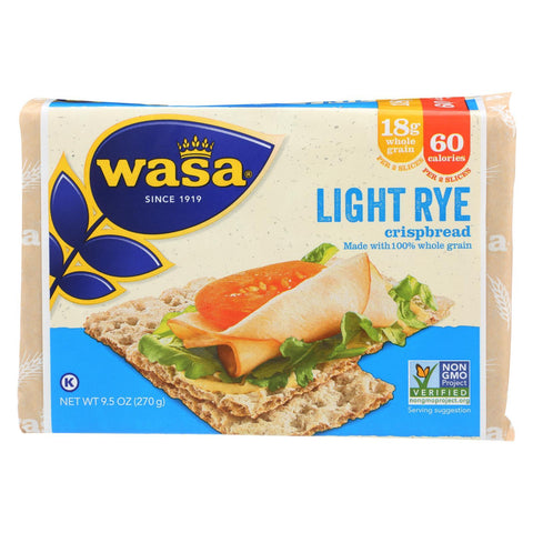 Wasa Crispbread Light Rye - Case of 12 - 9.5 oz.