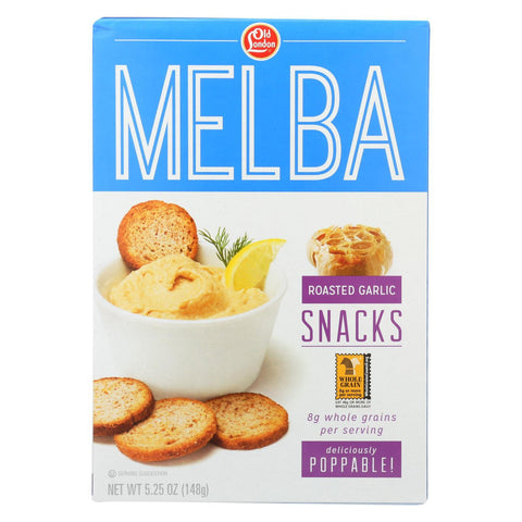 Old London Melba Snack - Garlic - Case of 12 - 5.25 oz.