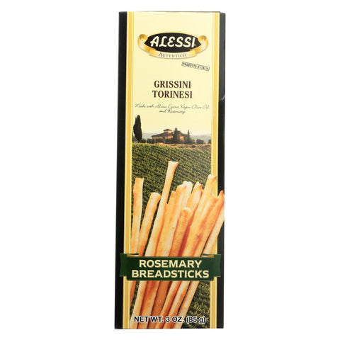 Alessi Breadsticks Rosemary - Case Of 12 - 3 Oz