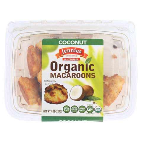 Jennies Organic Macaroon - Coconut - Case of 12 - 8 oz