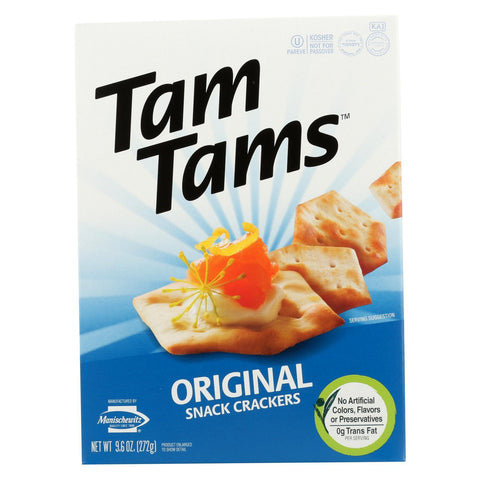 Manischewitz Tam Original Snack Crackers - Case of 12 - 9.6 oz.