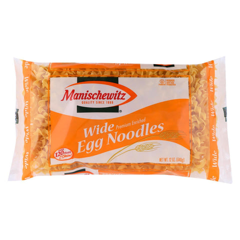 Manischewitz Egg Noodles Broad - Case of 12 - 12 oz.