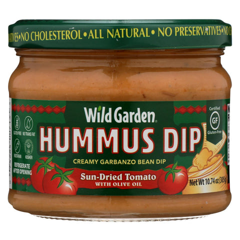 Wild Garden Hummus - Sundried Tomato - Case of 6 - 10.74 oz