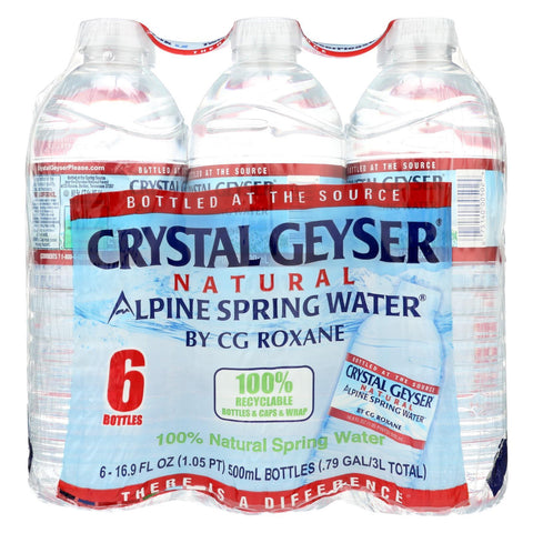 Crystal Geyser Alpine Spring Water - Case of 4 - 16.9 Fl oz.