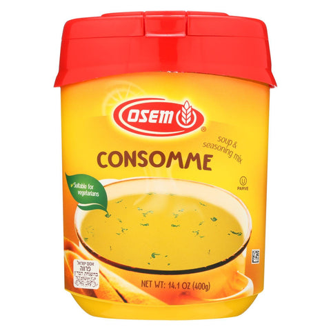 Osem Consomme Soup and Seasoning Mix - Chicken - Case of 12 - 14.1 oz.