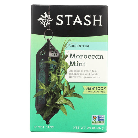Stash Tea Green Tea - Moroccan Mint - Case of 6 - 20 Bags
