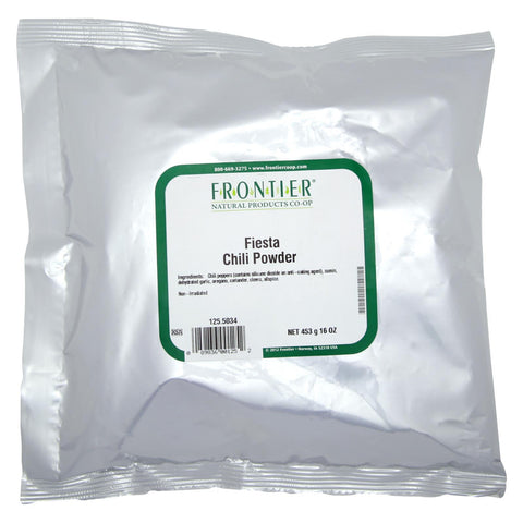 Frontier Herb Chili Powder Seasoning Blend - Fiesta - Bulk - 1 lb