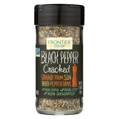 Frontier Herb Pepper - Black - Cracked - 1.98 oz