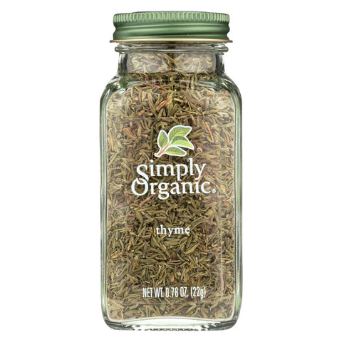 Simply Organic Thyme Leaf - Organic - Whole - Fancy Grade - .78 oz