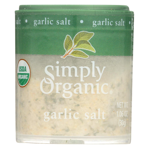 Simply Organic Garlic Salt - Organic - 1.06 oz - Case of 6