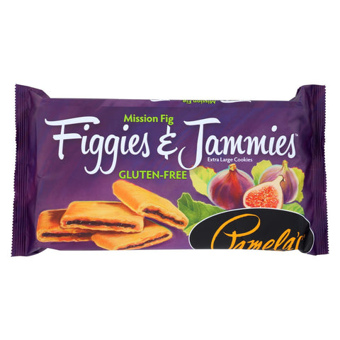 Pamela's Products Gluten Free Cookies Mission Fig - Figgies and Jammies - Case of 6 - 9 oz.