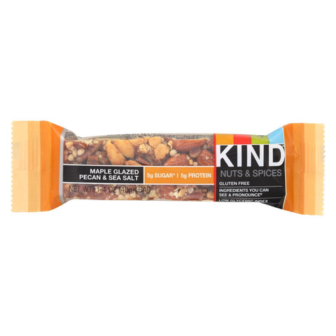 Kind Bar - Maple Glazed Pecan and Sea Salt - 1.4 oz Bars - Case of 12