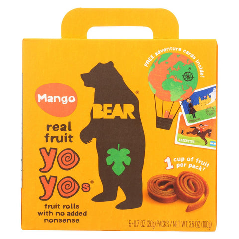 Bear Real Fruit Roll Yoyo - Mango - Case of 6 - 3.5 oz