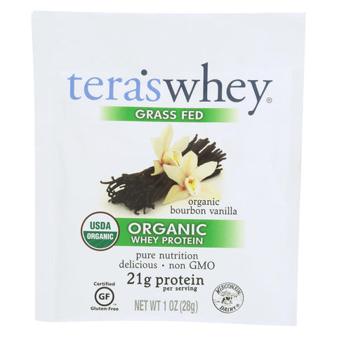 Teras Whey Protein Powder - Whey - Organic - Boubon Vanilla - 1 oz - Case of 12