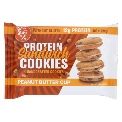 Buff Bake Cookies Peanut Butter Cup - Case of 8 - 1.79 oz.