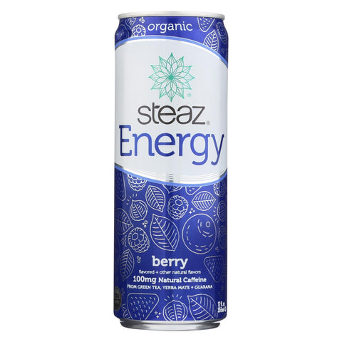 Steaz Energy Drink - Berry - Case of 12 - 12 Fl oz.
