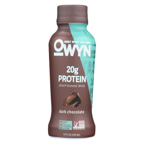 Only What You Need Plant Based - Dark Chocolate - Protein - Case of 12 - 12 fl oz