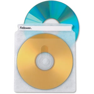 Fellowes Double-Sided CD/DVD Sleeves - 50 pack (Pack of 5)