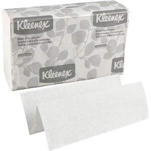 Kleenex 1 Ply M-Fold Hand Towels (8 Boxes of 150 Sheets)