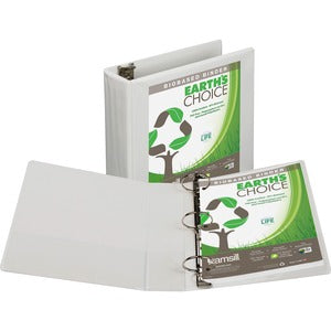 "Samsill Earth's Choice Round Ring View Binders - 3"" Ring - 575 Sheet Capacity"
