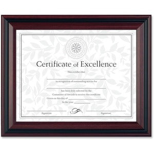 Burns Grp. Two-Toned Document Frames