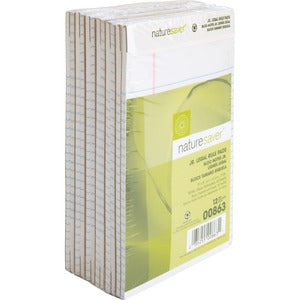 Nature Saver 100% Recy. White Jr. Rule Legal Pads (Pack of 12)