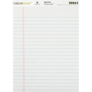 Nature Saver Recycled Legal Ruled Pad (Pack of 12)