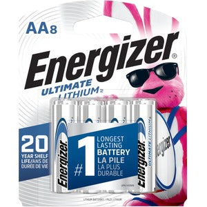 Energizer e2 L91SBP-8 Lithium Digital Camera Battery (Pack of 8)