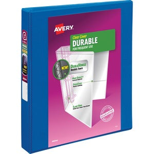 "Avery Durable Slant Ring View Binders - 1"" Ring - 200 Sheet Capacity"