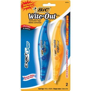 BIC Exact Liner Wite-Out Brand Correction Tape (Pack of  )