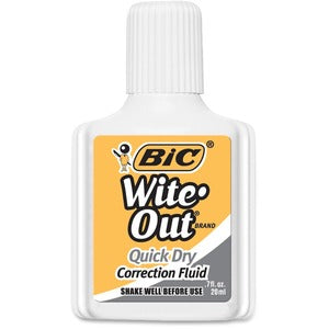 BIC Wite-Out Quick Dry Correction Fluid (Pack of  )