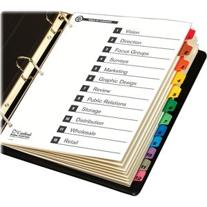 Cardinal Onestep Recycled TOC Dividers (Set of  )