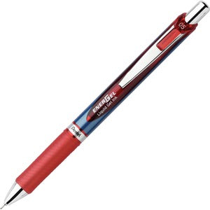 Pentel EnerGel Deluxe RTS Retractable Pens - Extra Fine Point - 0.5mm - Red
