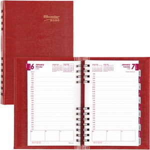 Rediform CoilPro Hard Cover Daily Planner (Set of 10)