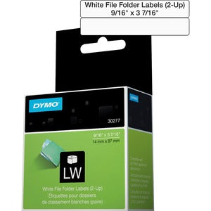 Dymo White 2-Up File Folder Labels (Box of 1 Roll)