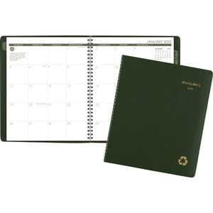 At-A-Glance Green Living Recycled Mthly Planner