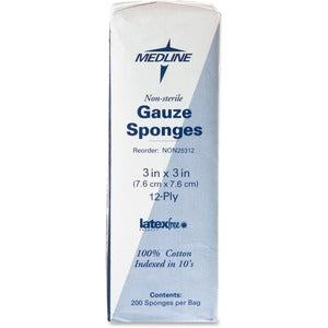 Medline Nonsterile Woven Gauze Sponges (Box of 2)