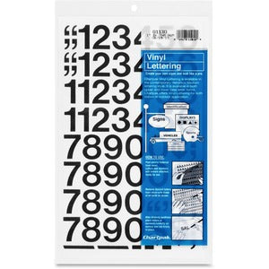 Chartpak Permanent Adhesive Vinyl Numbers (Pack of 1 Set)