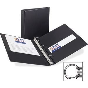 "Avery Matte Cover Round Ring Economy Binder - 1.5"" Ring - 275 Sheet Capacity"