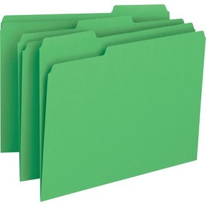 Business Source Color-coding 1-Ply File Folders (Box of 100)
