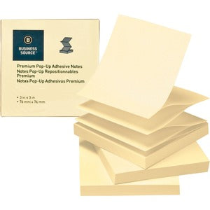 Business Source Reposition Pop-up Adhesive Notes (Pack of 24 )