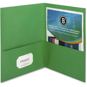 Business Source Two-Pocket Folders (Box of 25)