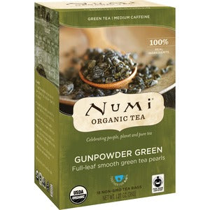 NUMI Gunpowder Green Organic Tea (Box of 18)