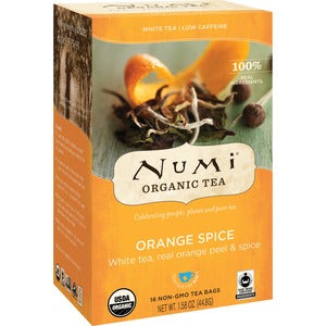 NUMI Organic Orange Spice White Tea (Box of 16)