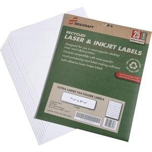 SKILCRAFT Recycled XL Laser/Inkjet Labels (Pack of 450)