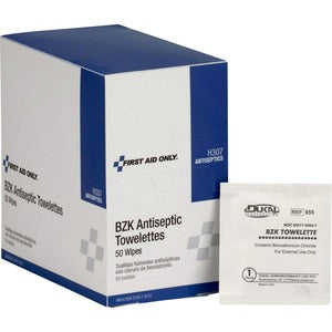First Aid Only BZK Antiseptic Towelettes (Box of  )